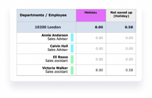 Screenshot of automatic wage reductions in hr administration